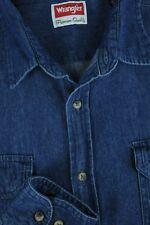 Wrangler Men's Denim Blue Cotton Casual Shirt L Large