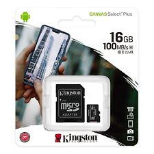 Kingston 16GB Micro SD Tarjeta de UHS-1 clase 10 + Adaptador Sd 100MB/s