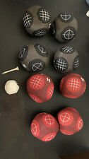 Sportcraft Ball Bocce Set Bean Ball Indoor/Outdoor Canvas Case With Instructions