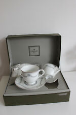 Coffret 2 Tasses CHRISTOFLE Porcelaine Alliance Gris Marquise