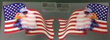 "American Flag with Eagle  7.3/4 ""wide, SET  #EF16"