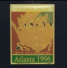 Olympic Pin Badge~Poster Pin~Paris, France 1924~1996 Atlanta~NEW on CARD