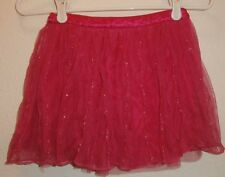 JUSTICE Hot Pink Girls Kids Skirt Size 10 sparkly sequins lace ruffles brand nam