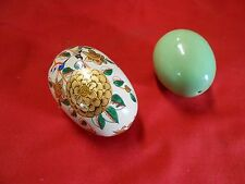 Great Set of 2 Decorative Eggs.one handpainted.one plain.Sale