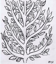 HENRI MATISSE 1954 HELIOGRAVURE TREE II PLATE SIGNED  LAST WORKS OF MATISSE
