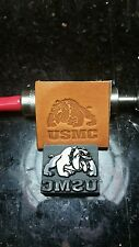 Marines, USMC Bulldog leather embossing stamp.