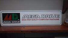 """SEGA Mega Drive logo aluminum sign  6"""" x 24"""""""