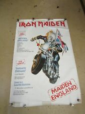 "Vintage 1988 AUTHENTIC IRON MAIDEN STORE POSTER  *MAIDEN ENGLAND*  40"" x 60"""