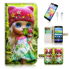 ( For Samsung S5 ) Wallet Case Cover! P1056 Doll