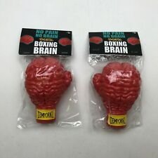 RON ENGLISH X TOYQUBE 'BOXING BRAIN' SET RED EDITION VINYL FIGURE NEW