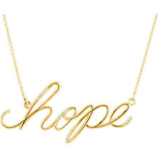 """Diamond Hope 16.8"""" Necklace In 14K Yellow Gold"""