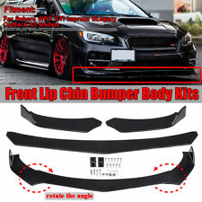 3Pcs Glossy Black Front Bumper Lip Body Kit Spoiler For Subaru Impreza WRX Sti