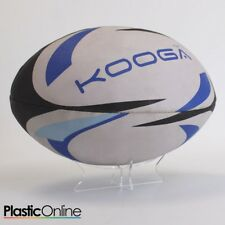 Acrylic Rugby Ball Display Stand Ball Riser Plinth Horizontal Rugby Ball Holder