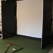 Ultimate Golf Cage with 4 sided net and  screen 10 x 10 x 15 ** USES REAL BALLS*