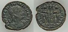Ancient Rome Thessalonica Ad 337-50 Constans Bil 1/4 maiorina