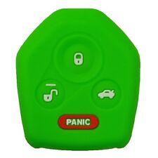 Protective Silicone Rubber Remote Head Key Cover For Subaru 4 Button Green