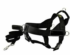 """Dean And Tyler Autism Dog Harness 23""""-28"""" Black With Padded Leash"""
