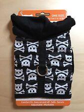 NEW Simply Cat Black Harness with Hood - Cute Skull Kitty Bones