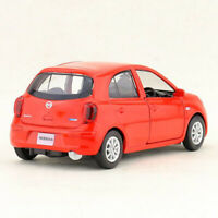 1:36 Nissan March Miniature Model Car Metal Diecast Gift Toy Vehicle Red Kids