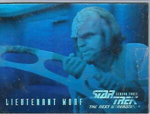 Star Trek TNG Seasons Three Hologram Chase HG6 Lieutenant Worf  - Skybox 1995