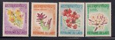 Laos  1967  Sc # 152-55  Flowers   MNH   (1-340)