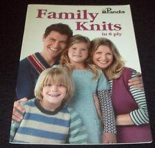 PANDA FAMILY KNITS IN 8 PLY