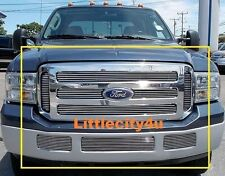 For 2005 2006 2007 Ford SuperDuty F-250 F-350 F-450 Billet Grille combo inserts