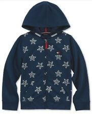 Tommy Hilfiger Girls Star Zip-Up Hoodie Jacket Blue  Size XL