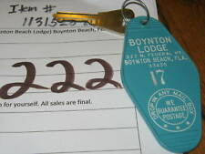 Vintage Casino Hotel Motel Room Key 17 (Boynton Beach Lodge) Boynton Beach FLA