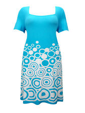Brand New Sheego Shift Dress ~ Size 18 ~ Blue, white ~ Short Sleeve ~ Casual