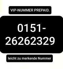 VIP-Handynummer 0151-26262329 Telekom Prepaid Karte mit 10€ Restguthaben