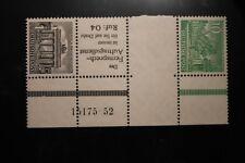Berlin postfrisch Mi.Nr. SZ6 geprüft 10 und 1 Pf. Bauten-HAN-Zusammendruck 1952