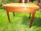 Vintage Enamel Top Kitchen table with drawer and pull out leaves  Nice