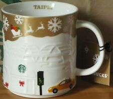 Starbucks Christmas Relief Mug Taipei gold, 16 oz neu mit SKU, Rarität, HTF