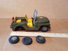 SSS Shoji Mighty Jeep made in Japan Vintage Friction Tin Toy for parts or repair