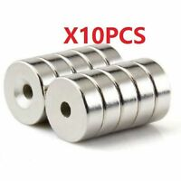 N35 15x5mm Countersunk Ring Magnets With 5mm Hole Strong Round Rare Earth 10pcs@