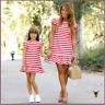 Mutter und Tochter große Größe Kleidung Eltern-Kind-Kleid Familie passende