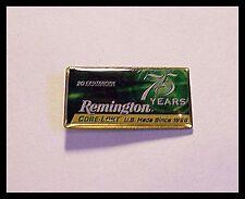 Pin Remington Core-Lokt Big game Ammunition 75 Years U.S. Made  Lapel Hat New D9