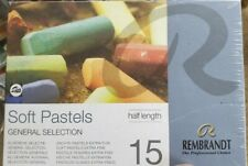 NEW Rembrandt Soft Pastels 15 Half Length,  General Selection Professional Choic