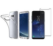Samsung Galaxy S8+ Plus TPU Silikon Schutz Hülle Cover Bumper+ PANZER GLAS Folie