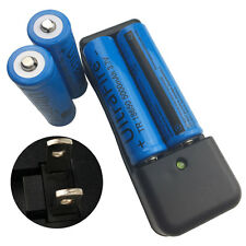 4 Pcs 18650 5000mAh 3.7V Li-ion Rechargeable Battery & 4.2V US Charger