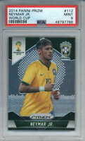 2014 Panini Prizm World Cup Neymar Jr. #112 PSA 9 Brazil ID