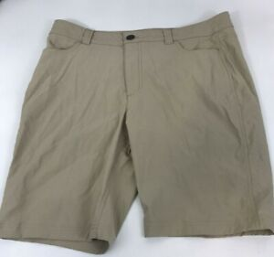 Women's EDDIE BAUER Stretch Hiking Shorts Size 14  36x10 Packable Quick Dry