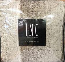 INC INTERNATIONAL CONCEPTS METALLIC GOLD/BEIGE/BROWN DOT KING COMFORTER NIOP