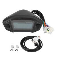 Moto Digital LCD Compteur De Vitesse Indicateur Odomètre Tachymètre Universel