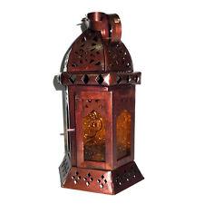 "Decorative Lanterna marocchina, 10 ""ALTEZZA GIALLO VETRO TEALIGHT CANDLE HOLDER"