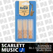 Rico Royal Tenor Sax Reeds 3 Pack Reed Size 3 ( Three ) RKB0330 3PK
