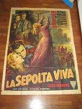 Manifesto,LA SEPOLTA VIVA BRIGNONE,MILLY VITALE,MULLER,GARIBALDI,A.BALLESTER