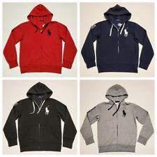 Men Polo Ralph Lauren Fleece Hoodie BIG PONY Soft Cotton Jacket Sweatshirt