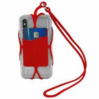 """Tour de cou rouge universel smartphone/mobile Apple iPhone de 3,8"""" à 4,3"""" pouces"""
